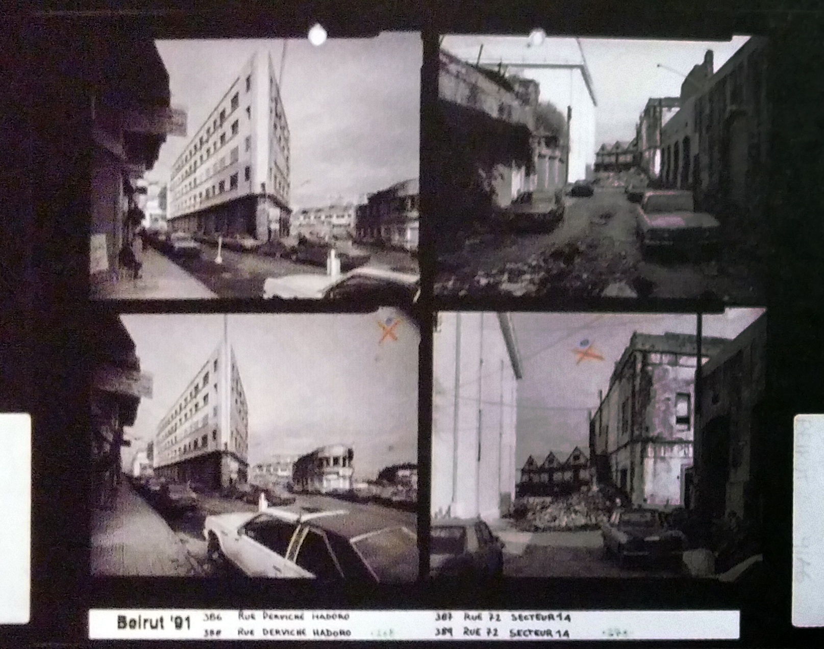 Gabriele Basilico, Beyrouth, Planche-contact , 1991